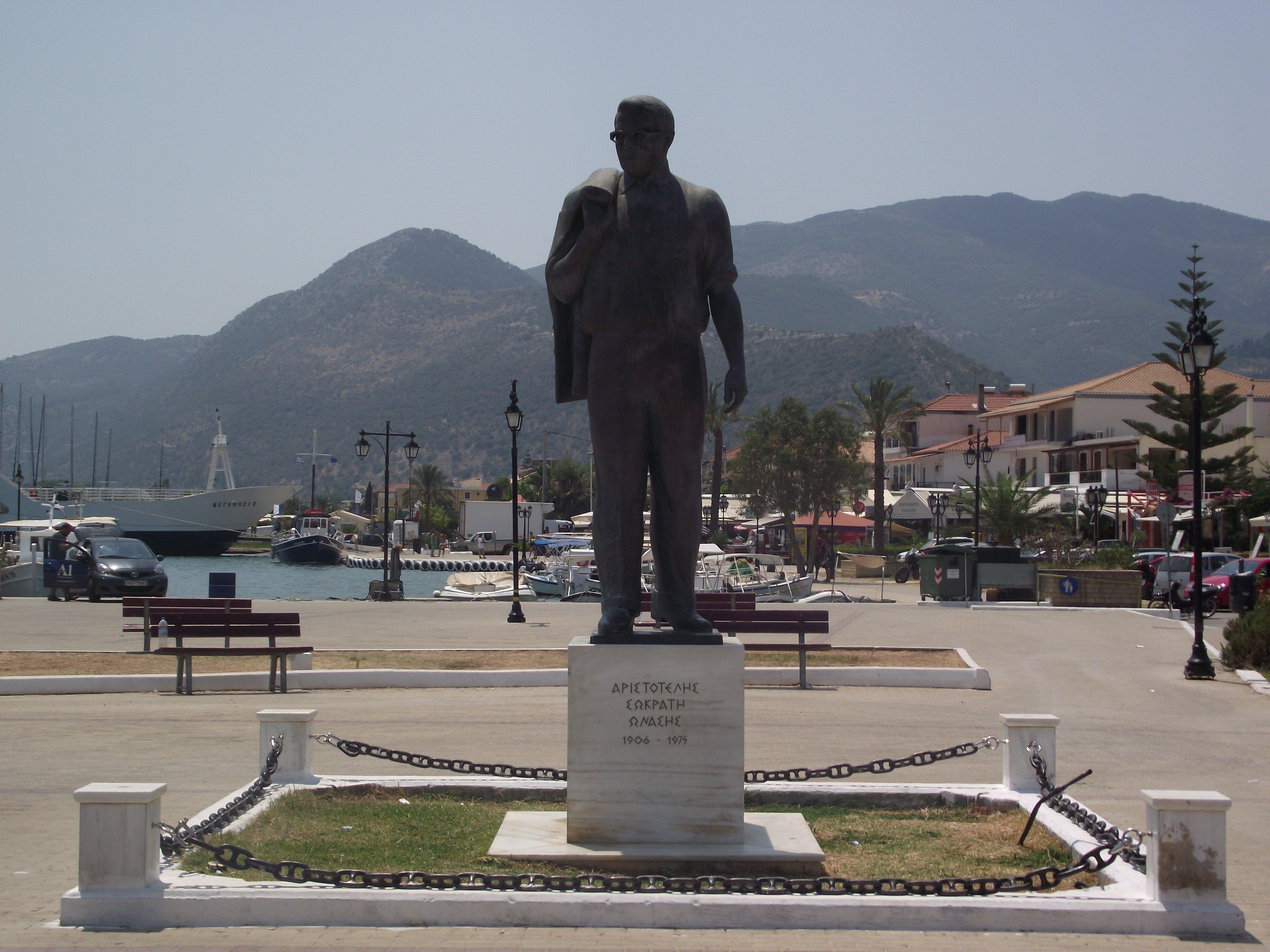 Aristotle Onasis Statue